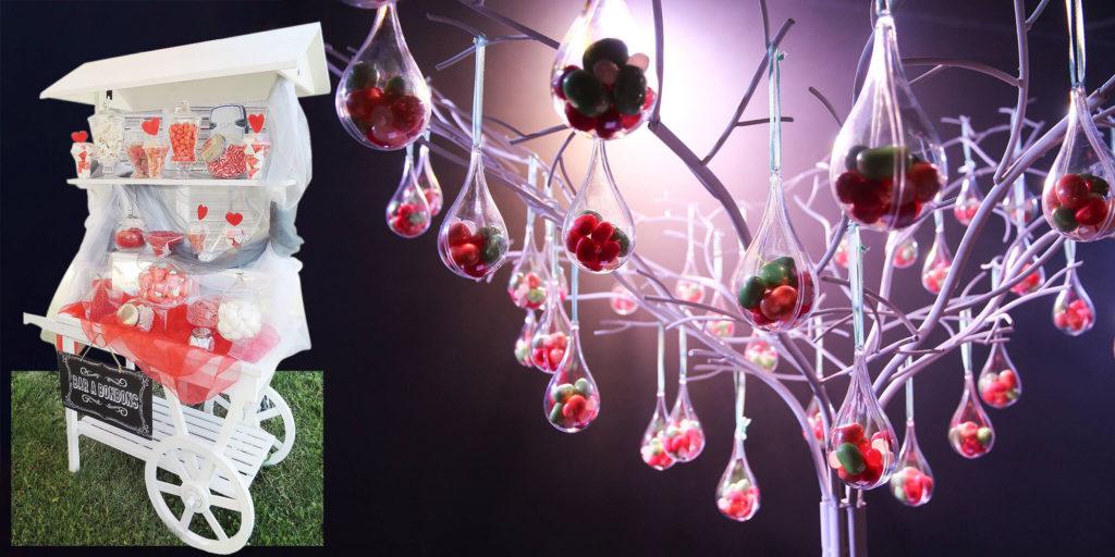 Candy bar et arbre à bonbons pour vos événéments et cérémonies